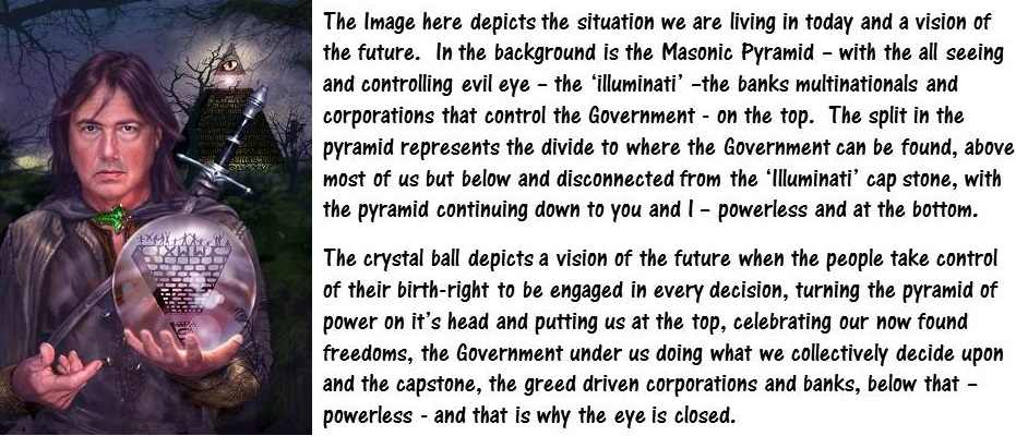 mad pyramids and text